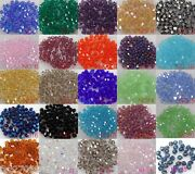 Wholesale 100pcs-5000pcs Multicolor Bicone Crystal Spacer 5301 Beads Diy 4mm