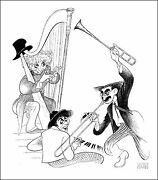 Al Hirschfeldand039s Marx Brothers Musicale Hand Signed Limited Edition Lithograph
