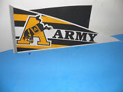 Ncaa West Point- Army Mule Kicking By A Golden A Vintage Pennant 12x30