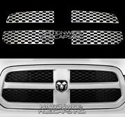 For Dodge Ram 1500 2013-2019 Chrome Snap On Grill Overlay Grille Covers Inserts