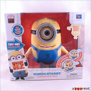 Despicable Me 2 Minion Stuart Talking Laughing Action Figure By Thinkway Toys