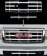 New 07-13 Gmc Sierra 1500 Chrome Snap On Grille Overlay Front Grill Cover Insert