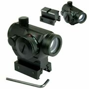 Tactical Holographic Green / Red Dot Sight Scope With Rail Mount And 1 Rail Riser