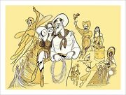 Al Hirschfeldand039s Will Rogers Follies Hand Signed Limited Edition Lithograph