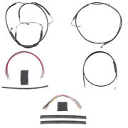 Black Cable And Brake Line Mstr Kit 16 Apes 2008-2013 Harley Touring W/abs
