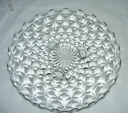 Vintage American Fostoria Clear 3 Footed 12 Round Cake Plate