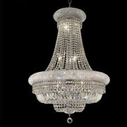 New Crystal Chandelier Primo Chrome 14 Lights 28x36