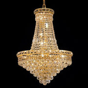 New Crystal Chandelier Tranquil Gold 22 Lights 22x31