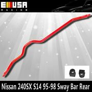 For Nissan 240sx S14 Anti Roll Sway Stabilizer Bar 1995-1998 Rear New Red