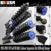 Coilover Susension Lower Kits Fits 93-98 Volkswagen Golf Iii Mk3 Blue
