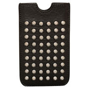 Brand New Brit Rhythm Mores Studded Iphone Sleeve Case In Black/silver
