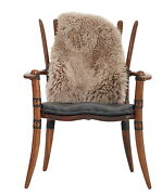 35 H Arm Chair Black Italian Leather Exotic Hard Wood Hand Crafted Spectacular