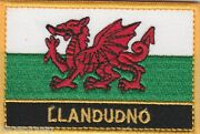 Llandudno Wales Cymru Town And City Embroidered Sew On Patch Badge