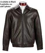 Famous Brand Dept Store Menand039s Small 100 Lambskin Bomber Jacket In Black Nwt