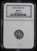 2005 Platinum Eagle 10 Ngc Ms70 Buy The Best
