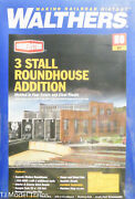 Walthers Ho 933-2901 Building3-stall Modern Roundhouse Addition Kit For 2900