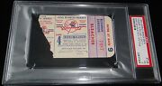 1950 World Series Game 4 Ticket Ny Yankees Stadium Clinch 13th Ws Title Psa 3