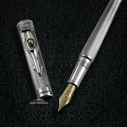 Montegrappa Tribute To Ayrton Senna Sterling Silver Limited Edition Fountain Pen