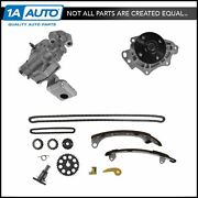 Timing Chain W/oil And Water Pump Kit Set For Lexus Toyota Scion L4 2.4l