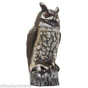 6 Pk 16 Great Horned Owl Lawn Ornament Scare Crow Pest Repellent Decoy Ow-6