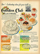 Vintage 1950 Magazine Ad For Garden Club Glassware And Kroehler Sofa And Chair