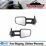 Trail Ridge Towing Mirror Manual Textured Black Pair For S10 S15 Jimmy Sonoma