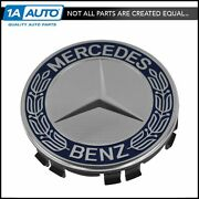 Oem Wheel Center Cap Blue And Chrome Lh Rh Front Or Rear For Mercedes Benz New