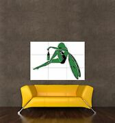 Poster Print Painting Digital Graphic Green Fairy Absinthe Bottle Wings Seb881