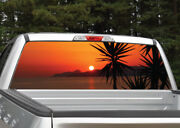 Beach Sunset Palm Trees 3 Rear Window Decal Graphic For Truck Suv Van