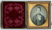1/6 Plate Daguerreotype Photo Portrait Of A Young Handsome Man