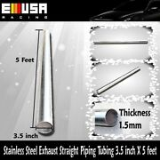 Stainless Steel Exhaust Straight Piping Tubing 3.5x5and039 Downpipe Header Cat