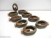 """Lot Of 9 Burndy Grc34 Ground Rod Clamp ¾"""" 1/0 Awg To 8 Awg, New"""