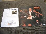 Ac/dc If You Want Blood Angus And Malcolm Young +cliff Signed Lp Psa Certified