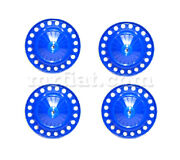 Fiat 500 Blue Wheel Cover Set Vented New