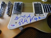The Doors Ray John And Robby All 3 Band Signed Autographed Guitar Psa Certified