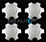 Set Of 4 New 17 Wheel Hub Center Caps Silver For 03-07 Toyota Tundra Sequoia