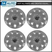 Oem 15 Inch Silver 9 Slot Wheel Cover Hub Cap Set Of 4 For Vw Volkswagen Jetta