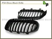 Gloss Black Front Kidney Grille For Bmw F34 328i 335i Gt Gran Turismo 2014-2017