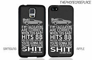 Back To The Future Doc Doctor Emmit Brown Delorean Dmc Quote Phone Case Cover