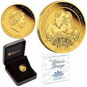 2013 1/4 Oz 99.99 Solid Gold Proof Coin George Birth Limited 328 Perth