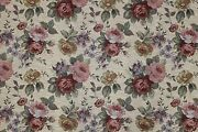 7 Yards Floral Tapestry Upholstery Fabric Heavy Rose Victorian French Sofa New
