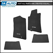 Oem Carpeted Floor Mats Maxima Logo Front And Rear Black Kit Set Of 4 For Maxima