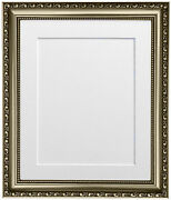 Shabby Chic Gunmetal Photo Picture Frames With A Selection Of 7 Coloured Mounts