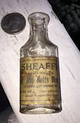 Antique Vet Bottle Mini Labeled Colic And Batts Remedy For Horse Lewistown Pa.