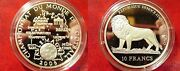 2006 Congo Large Silver Proof 10 Francs Soccer-germany World Cup /lion