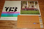 1963 Chevrolet Full Size Sales Brochure Custom Feature Accessories Lot Of 3 63