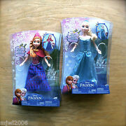 Disney Frozen Musical Magic Elsa And Anna Plays 'let It Go' 12 Doll By Mattel Lot