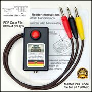 Mercedes Obd1 Diagnostic Code Reader For Cars With The 8 Or 16 Port.