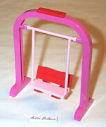 Lego 2 Seat Swing Stand Pink Garden Park Minifig Friends Girl City House Yard