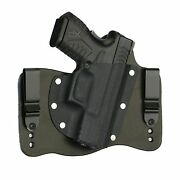 Foxx Leather And Kydex Iwb Hybrid Holster Springfield Xdm 3.8 9/40/45 Right Black